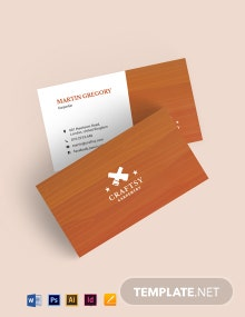 Clean Wooden Business Card Template