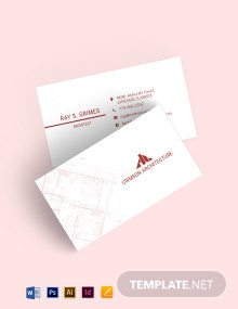 Corporate Architecture Business Card Template