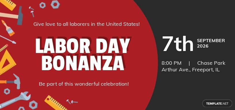 Free Labor Day Facebook Cover Template.jpe