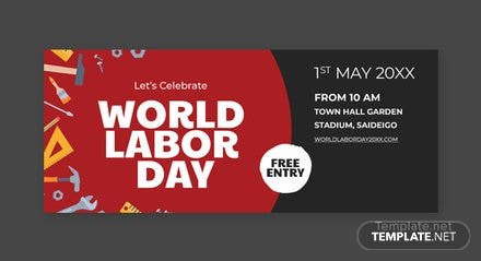 Free Labor Day Facebook Cover Template
