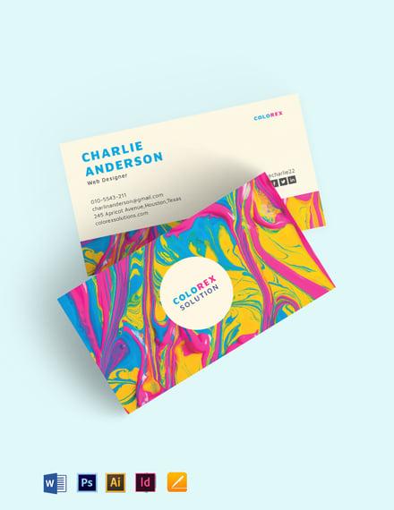 Creative Multicolor Business Card Template