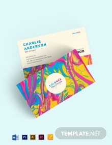 Creative Multicolor Business Card Template