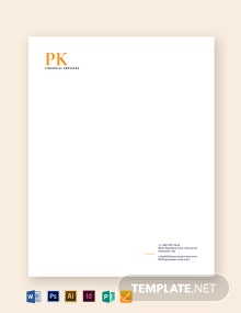 Accounting Letterhead Template
