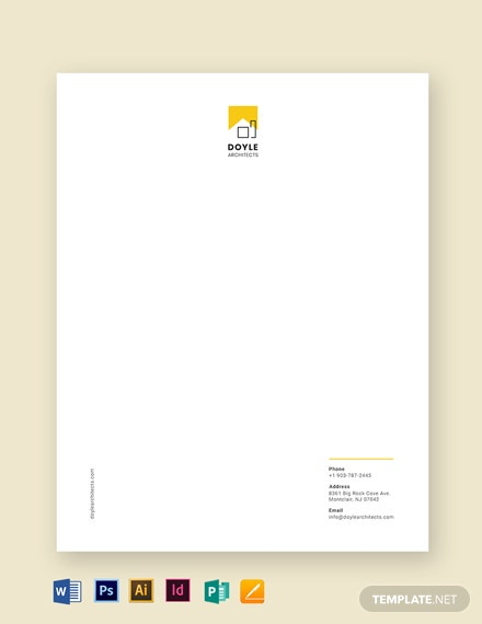 Architect Letterhead Template