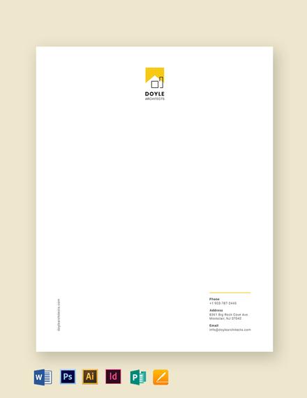 Architect Letterhead Template