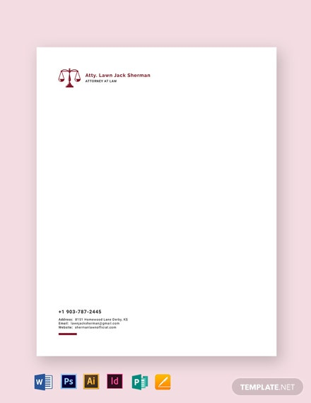 Attorney at Law Letterhead Template