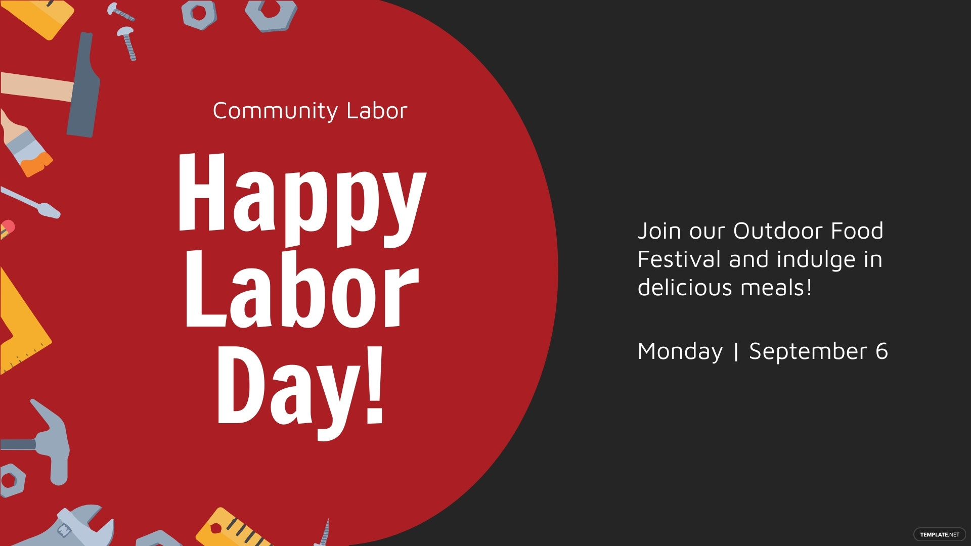 Labor Day Facebook Event Cover Template