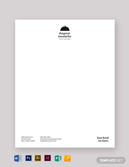 catering letterhead