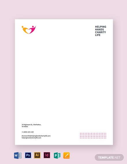Charity Letterhead Template