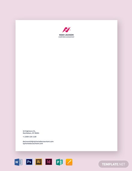 Chartered Accountant Letterhead Template