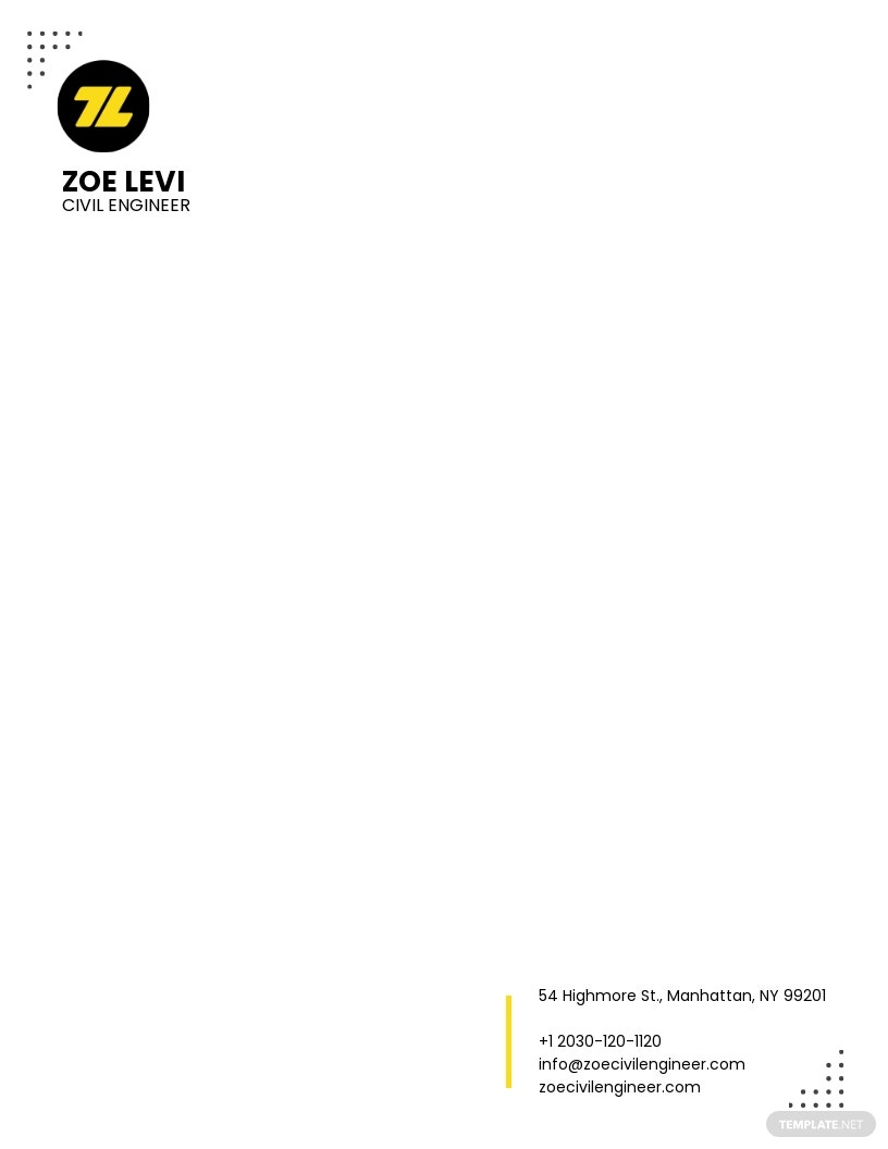 Civil Engineer Letterhead Template.jpe