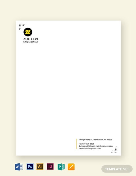 Civil Engineer Letterhead Template