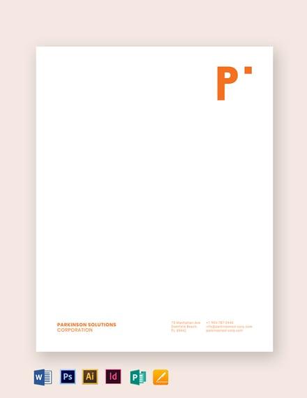 clean business letterhead