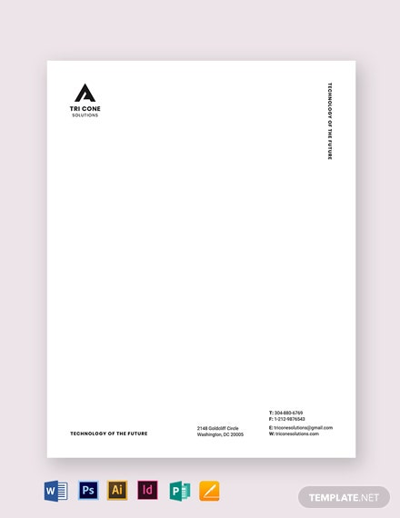 clean small business letterhead