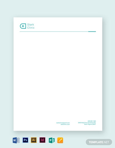 Clinic Letterhead Template
