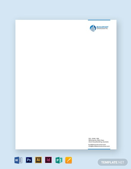 Construction Letterhead Template