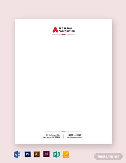 Corporation Letterhead Template
