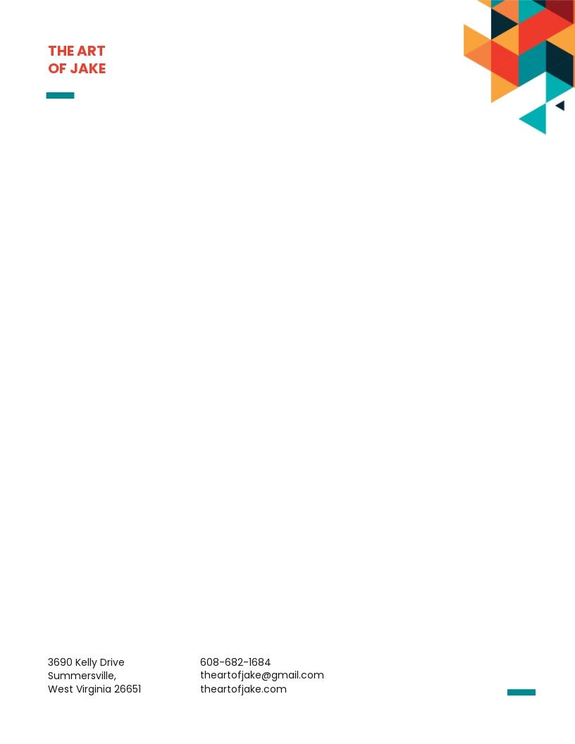 Creative Small Business Letterhead Template
