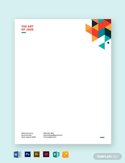 creative small business letterhead