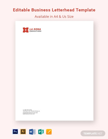 Editable Business Letterhead Template