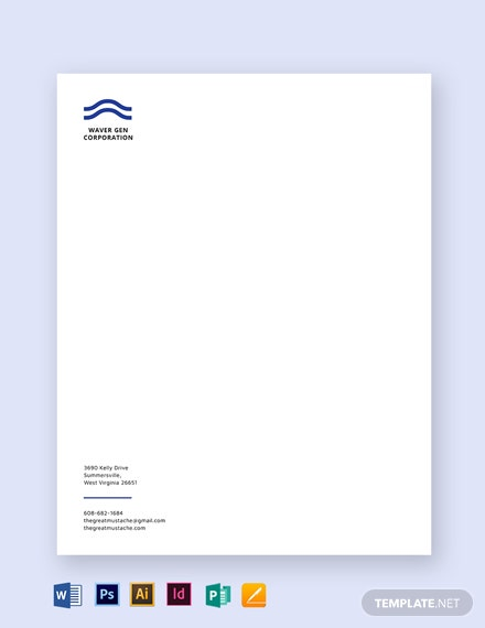 editable small business letterhead