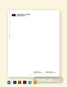 Education Letterhead Template
