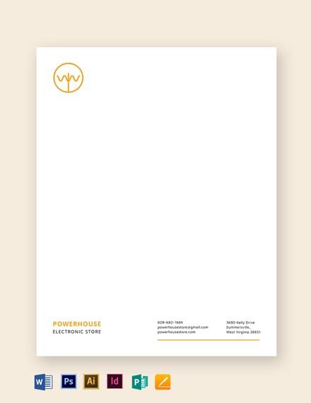 electronic store letterhead