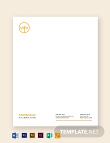 Electronic Store Letterhead Template