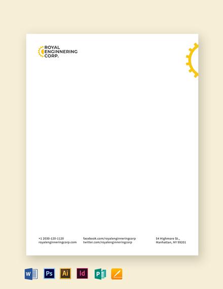 Engineering Letterhead Template
