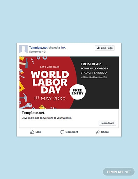 Free Labor Day Facebook Post Template