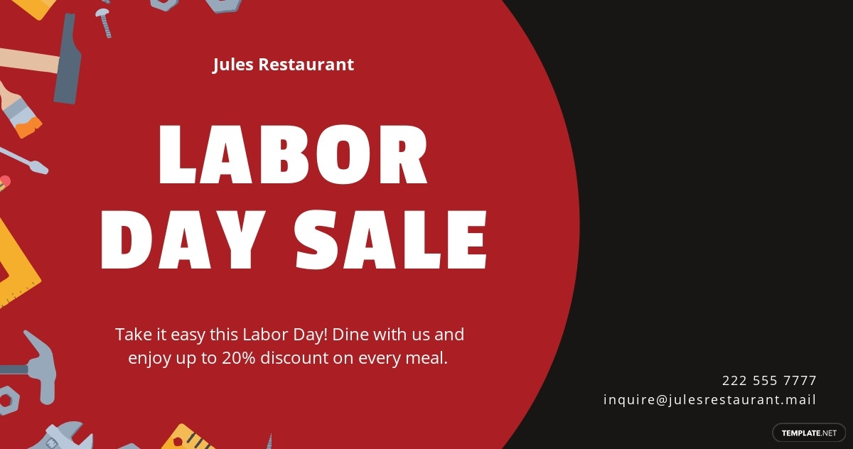 Free Labor Day Facebook Post Template.jpe