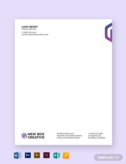 Executive Letterhead Template
