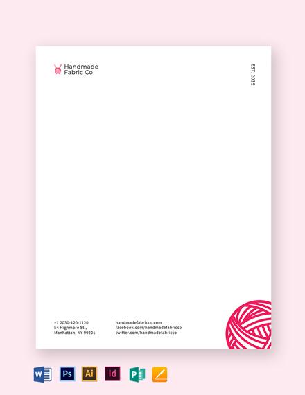Fabrics Company Letterheads Template
