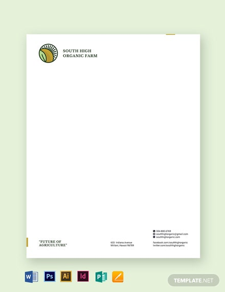 Farm Letterhead Template