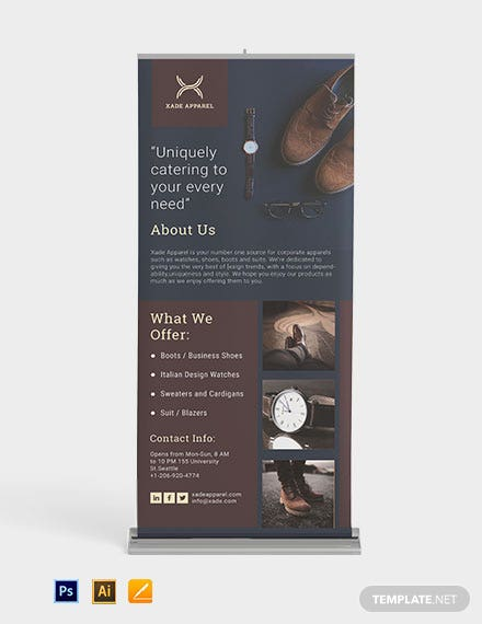 Mini Portfolio Roll Up Banner Template
