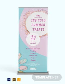 My Ice Cream Roll Up Banner Template