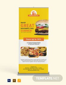Fast Food Roll Up Banner Template