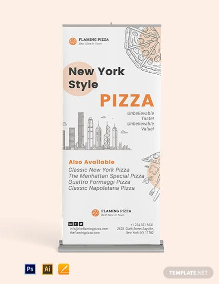 Download Pizza RollUp Banner Template