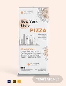 Pizza Roll Up Banner Template