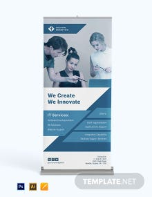 IT Services Roll Up Banner Template