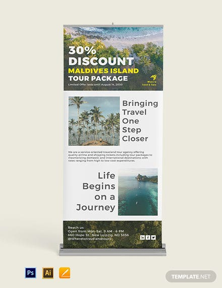 Download Tourism Roll Up Banner Template