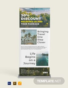 Tourism Roll Up Banner Template