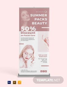 Beauty Care Roll Up Banner Template