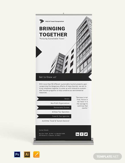 Corporate Hive Roll Up Banner Template