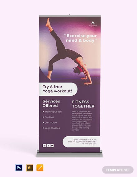 Yoga Roll Up Banner Template