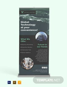 Global Business Roll Up Banner Template