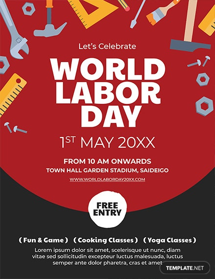 Free Labor Day Flyer Template Download 416 Flyers In Psd