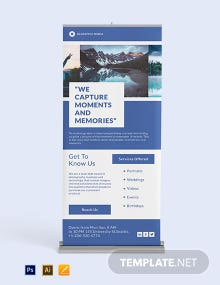 Facebook Style Roll Up Banner Template