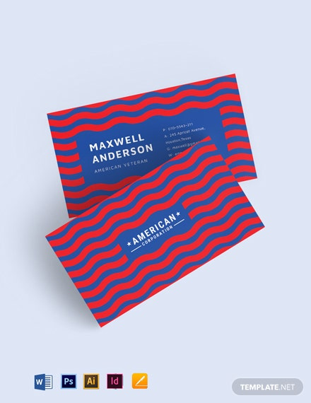 Business Card Template American Patr