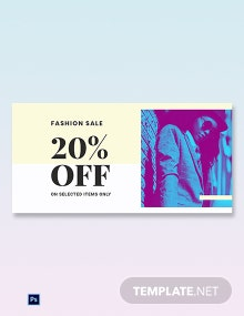 Free Fashion Clearance Sale Blog Image Template